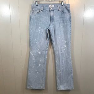 Armani Exchange A/X Boot Cut Distressed Jeans 10